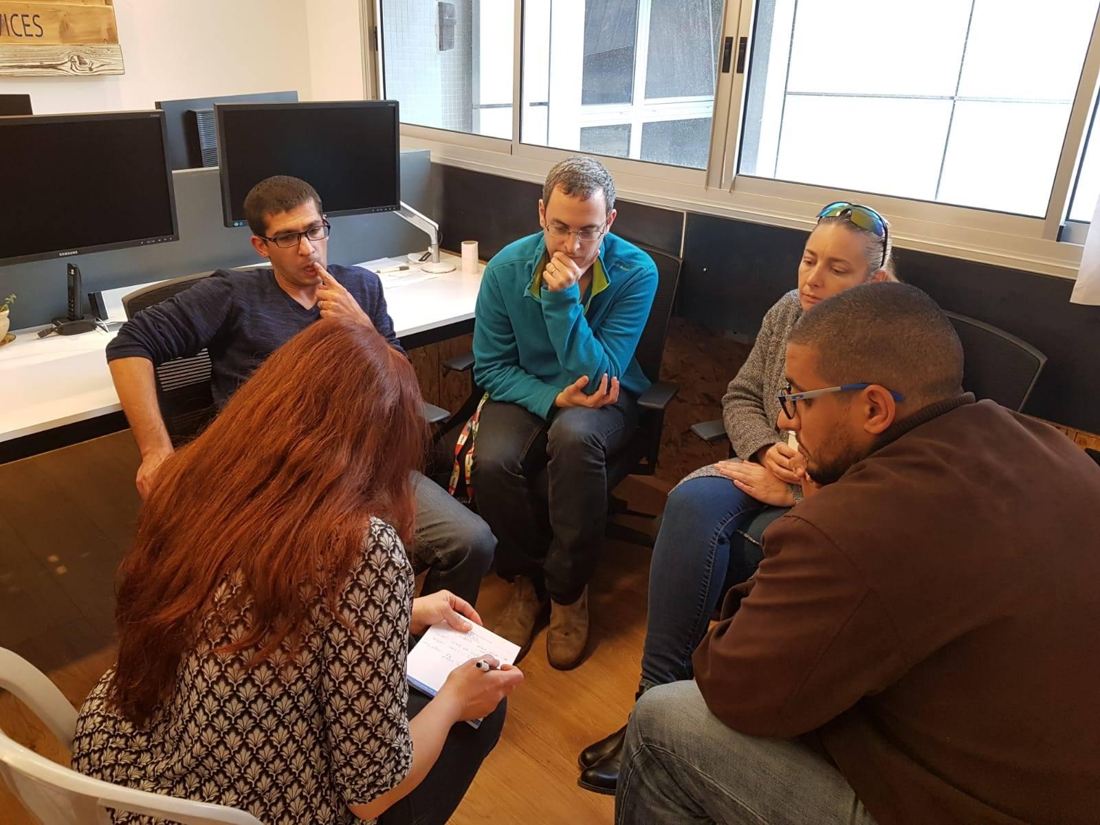 קבוצות חשיבה במסגרת סדנה לחברת אס.אי. שירותי פארמה