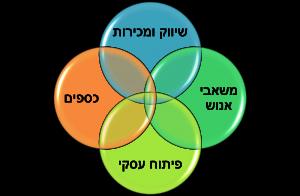 תרשים אופן עבודה אחרי ביצוע תהליך פיתוח צוות הנהלה